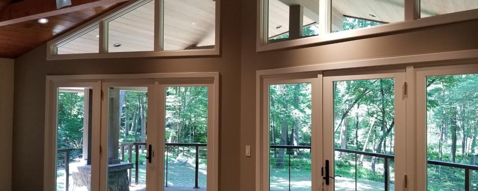 Under progress living room by custom home builders in North Caldwell, NJ