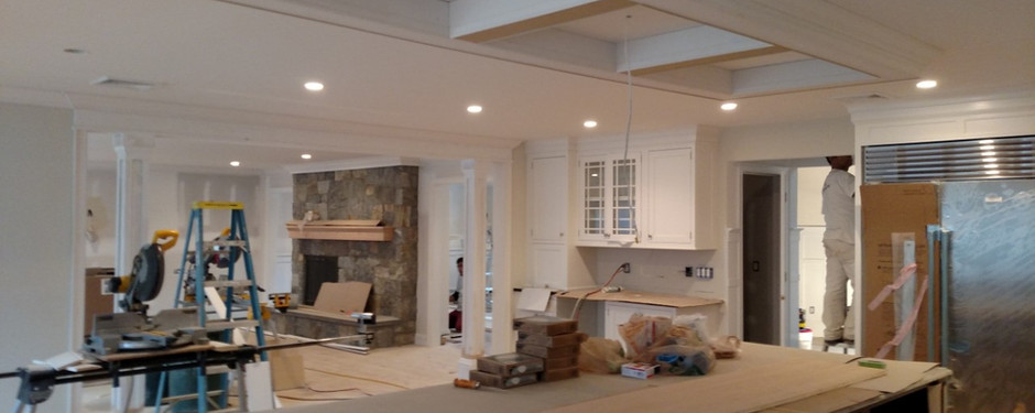 Inside an almost done house by home builders in Kinnelon, NJ
