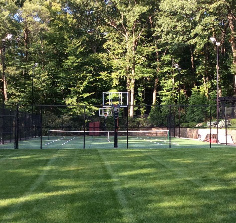 Basketball and tennis court chain link fence in Rockland County NJ