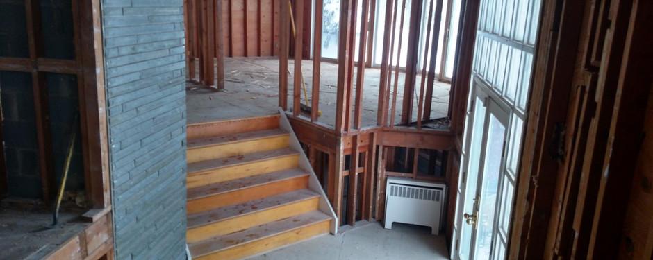 Living room in progress by general contractors near me in Kinnelon, NJ