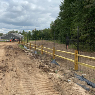 Deer Fence on Drive Stakes with Two Rail Poast & Rail.jpg