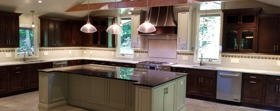 Almost done kitchen by home builders in Mountain Lakes, New Jersey