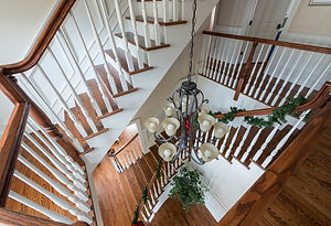 Beautiful staircase designed by general contractors near me in North Caldwell, NJ