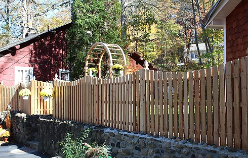 Stunning wood fence Westchester County NY