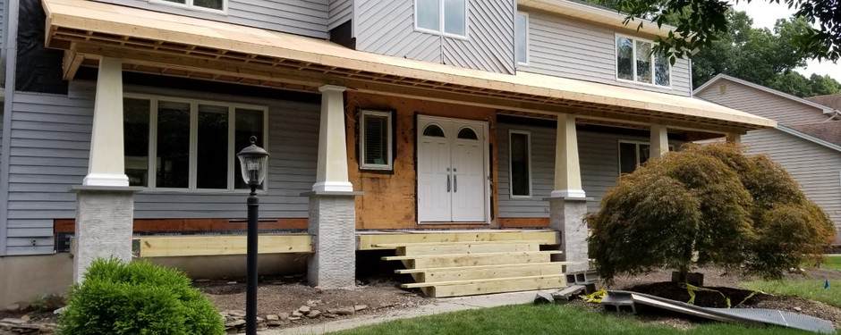 Front door of house by general contractors near me in North Caldwell, NJ