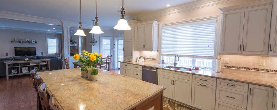 Spotless kitchen by home remodelers in Upper Saddle River, NJ