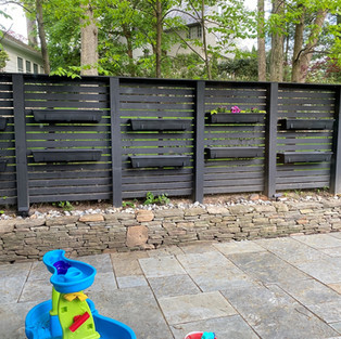 Stained Spaced Horizontal Fence