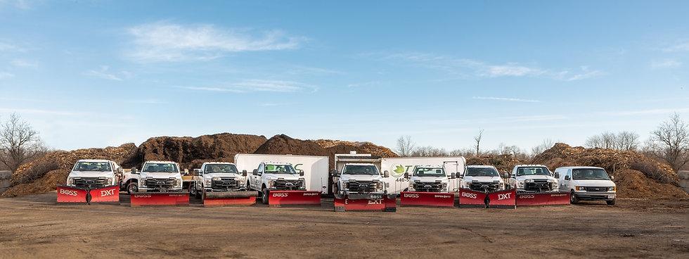 TRC Landscape Services Inc. trucks in Nebury, OH