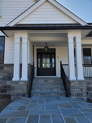 Front door picture by home builders in Mountain Lakes, NJ
