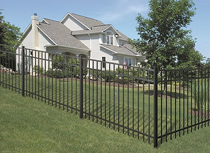 Modern aluminum fence Essex County NJ