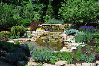Landscape design with water feature in Newbury, OH