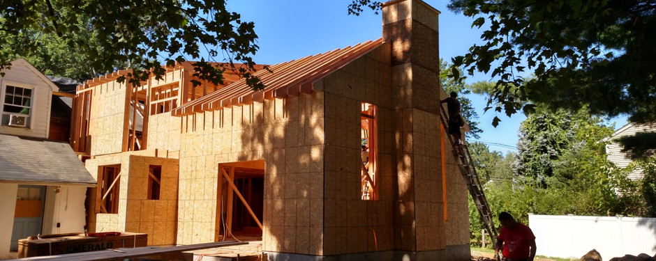 Stunning house under construction by general contractors near me in Upper Saddle River, NJ