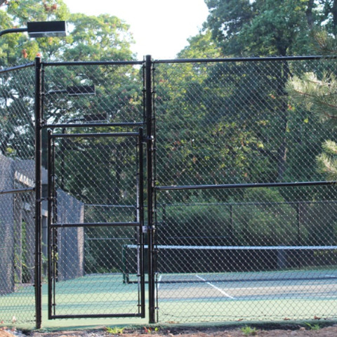 Tennis court chain link fence in Saddle River NJ