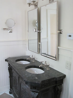 Stylish bathroom by home remodelers in Ridgewood, NJ