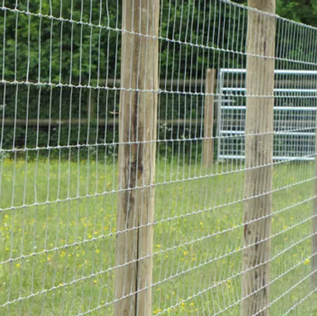 High Tensil Field Fence on Wood Posts