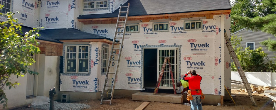 House in progress by home remodelers in Upper Saddle River, NJ