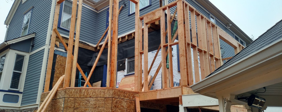 Home under construction by home builders in Kinnelon, NJ