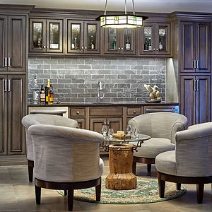 Beautiful bar lounge by general contractors near me in Mountain Lakes, New Jersey