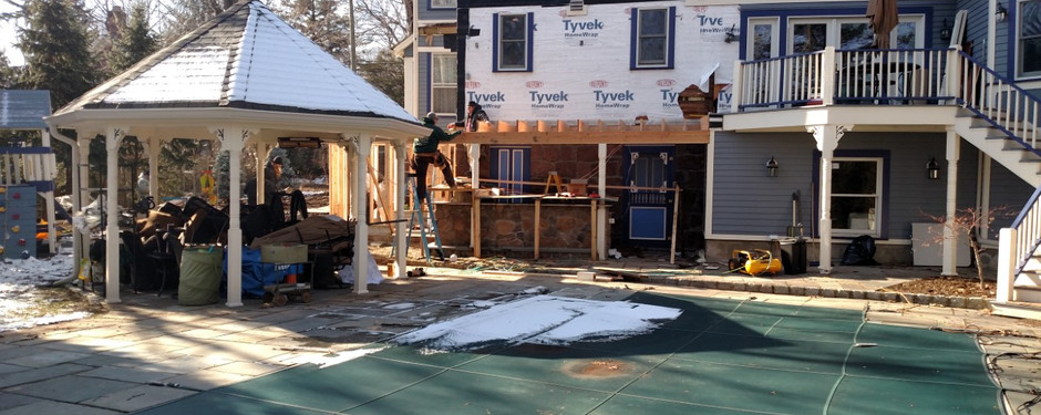 Shot of home under construction by general contractors near me in Kinnelon, NJ