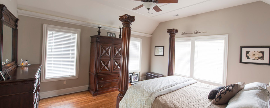 Beautiful bedroom by home builders in North Caldwell, NJ