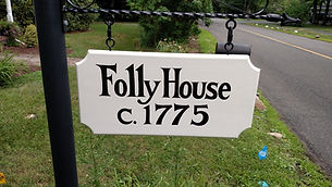 Image of address sign by home builders in Upper Saddle River, NJ