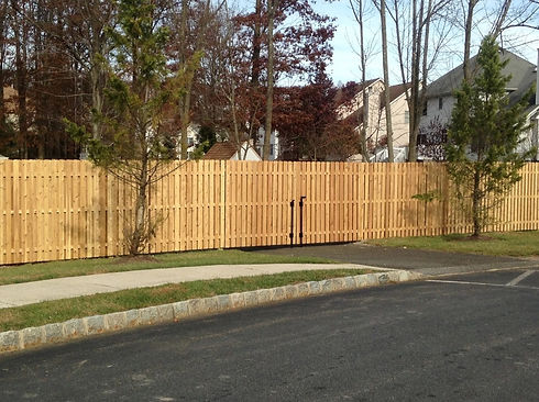 DIY wooden fence