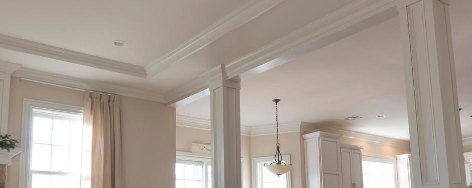 Beautiful living room by custom home builders in Ridgewood, NJ