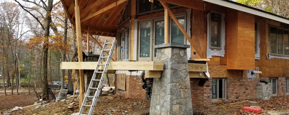 House almost finished by home remodelers in Ridgewood, NJ