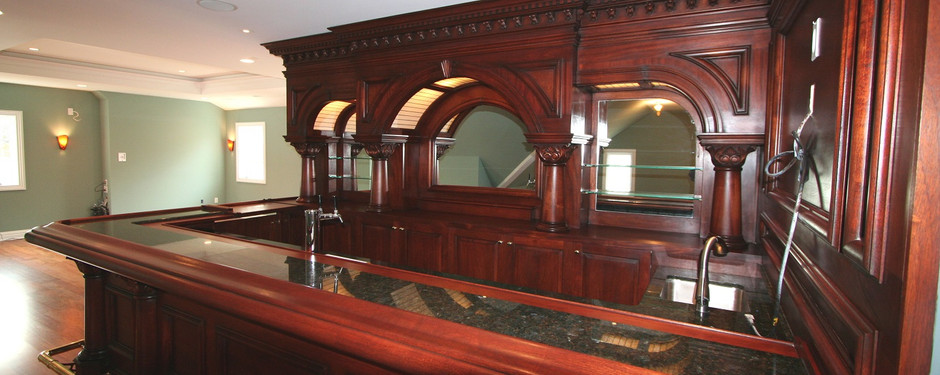 Beautiful bar made by general contractors near me in Upper Saddle River, NJ