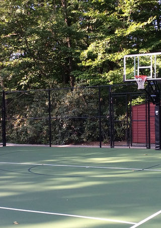 Basketball court with chain link fence in Rockland County, NY