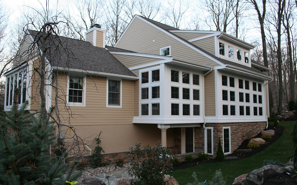 Beautiful house by custom home builders in Upper Saddle River, NJ