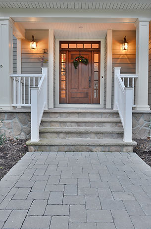 Front door by home builders in North Caldwell, NJ