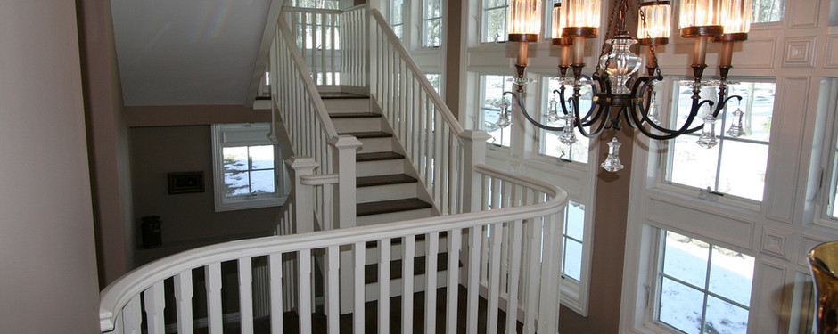 Stunning staircase by home builders in Upper Saddle River, NJ
