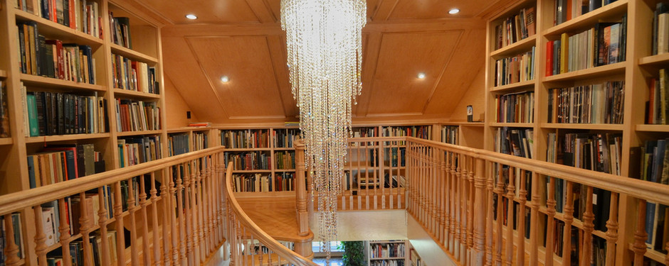 Outstanding shot of staircase by custom home builders in Mountain Lakes, NJ