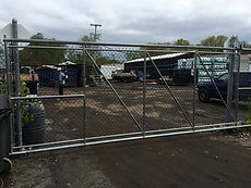 Warehouse chain link fence installation in Saddle River NJ