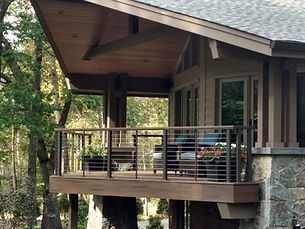 Beautiful deck made by home builders in Mountain Lakes, NJ