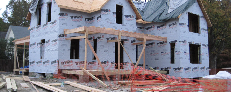 Picture of under construction home by general contractors near me in North Caldwell, NJ