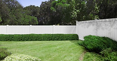 White vinyl fence installation in Mendham, NJ