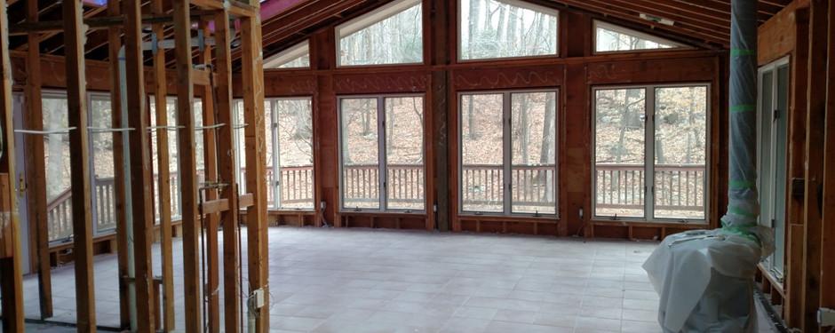 Attic in progress by home builders in Kinnelon, NJ
