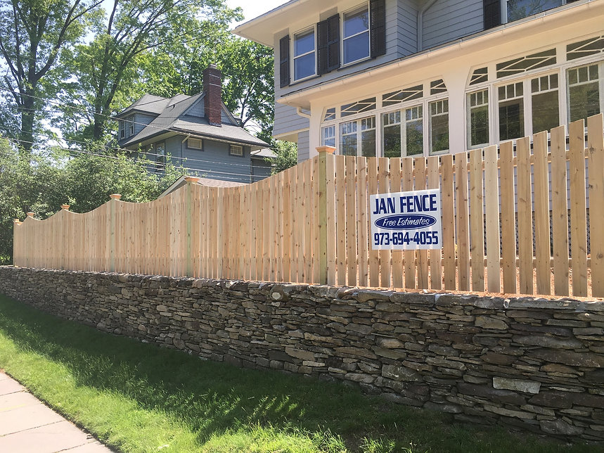 Wood fence installation in Westchester, Orange, Rockland County NY