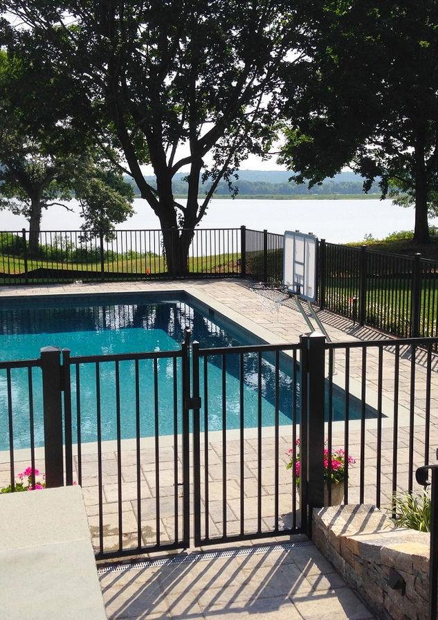 Pool guard - aluminum fence in Mountain Lakes, NJ