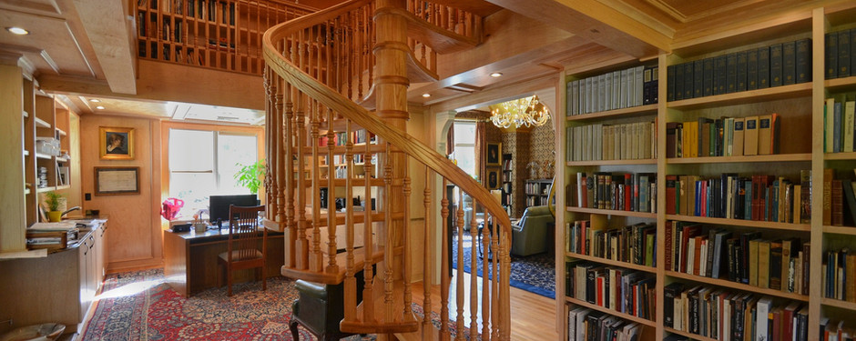 Amazing staircase by home builders in Mountain Lakes, NJ