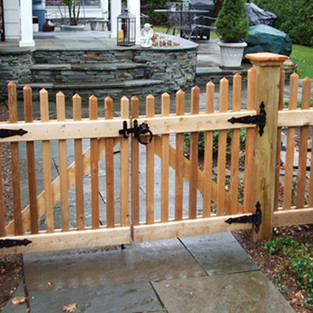 Scalloped Victorian Picket Double Gate