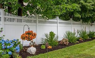 Beautiful white vinyl fence Union County NJ