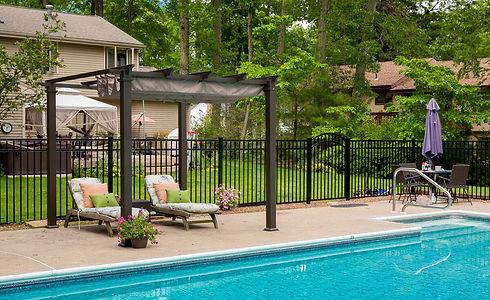 Pool companies - aluminum fence installation in Mountain Lakes, NJ
