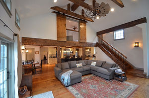 Stunning comfortable living room by general contractors near me in Upper Saddle River, NJ