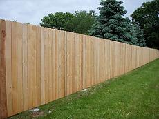 Wood fence installation in Essex Fells, NJ