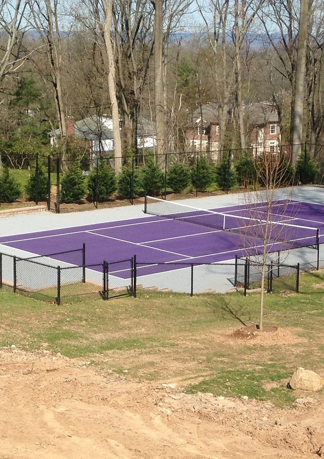 Tennis court chain link fence in Tewksbury, NJ