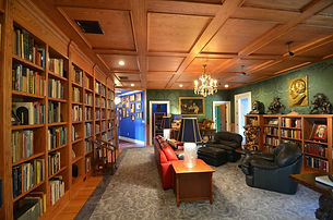 Inside view of blue home by home remodelers in Mountain Lakes, NJ