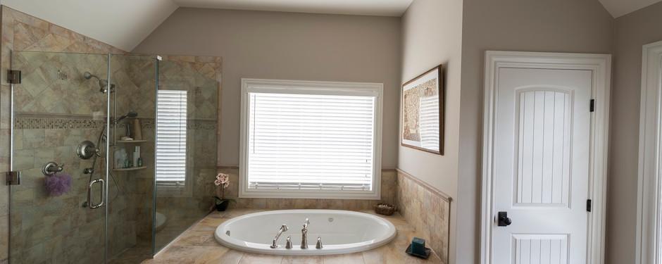Amazing bathroom by custom home builders in Upper Saddle River, NJ